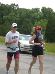 Patrick and Coach Mary run together
